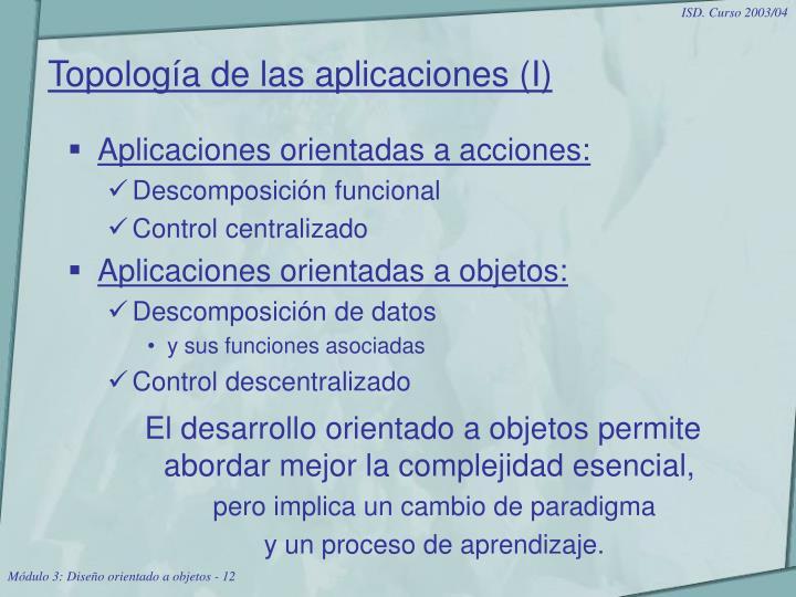 Topología de las aplicaciones (I)
