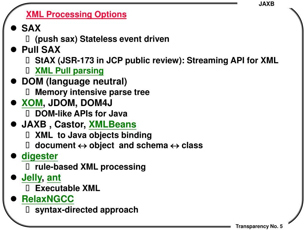 PPT - JAXB (Java API for XML Data Binding) PowerPoint