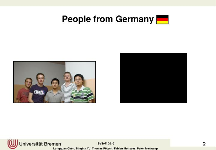 People from germany