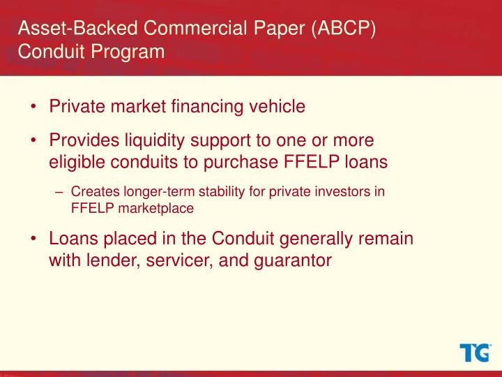 asset backed commercial paper Fcar owner trust (fcar) • single seller asset backed commercial paper program • bankruptcy remote special purpose entity (consolidated on balance sheet.