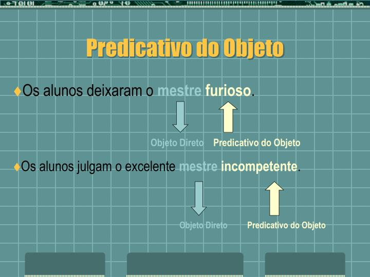 Predicativo do Objeto