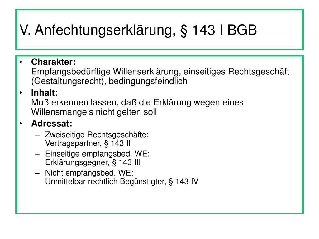 PPT   Anfechtung von Willenserklärungen nach §§ 20 ff BGB ...