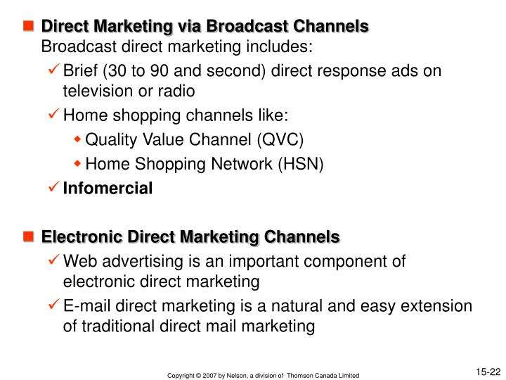 Direct Marketing via Broadcast Channels