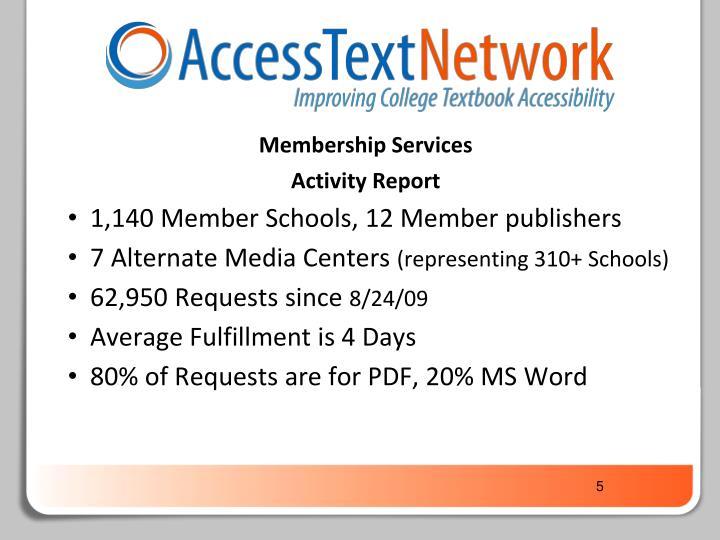 Membership Services