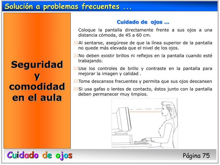 Solución a problemas frecuentes ...