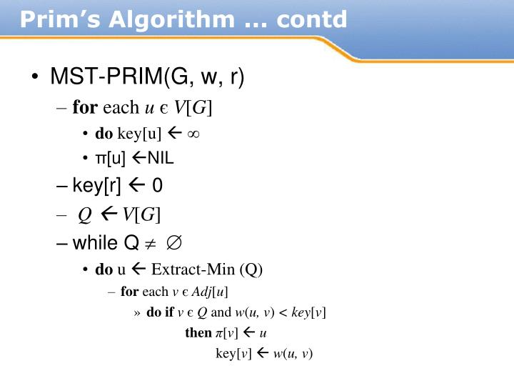 MST-PRIM(G, w, r)
