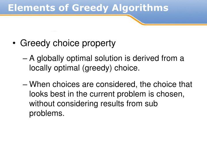 Greedy choice property