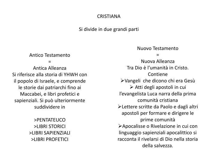 CRISTIANA