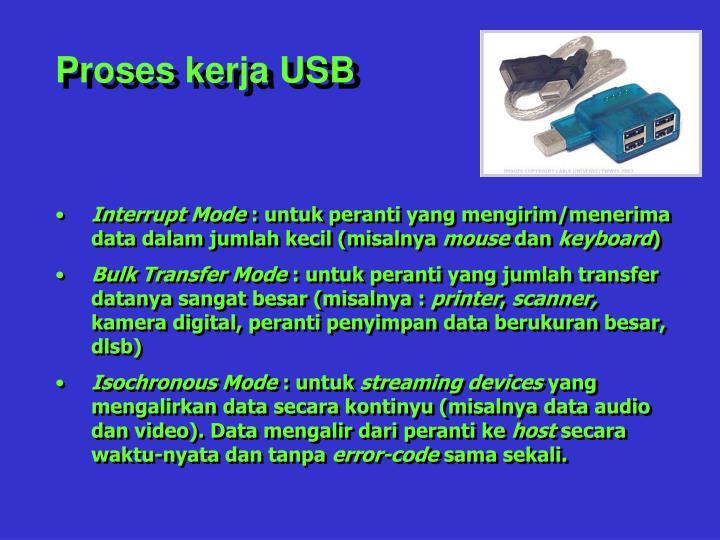 Proses kerja USB