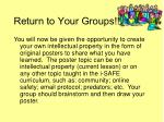 return to your groups