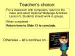 teacher s choice