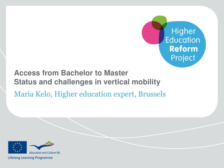 access from bachelor to master status and challenges in vertical mobility n.