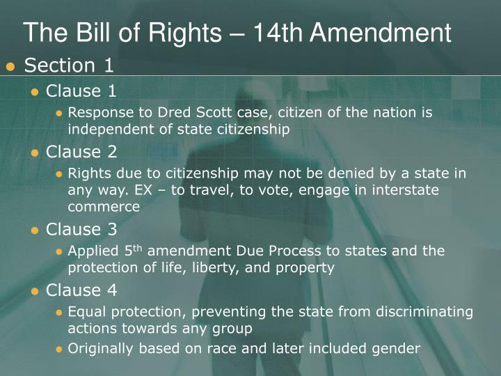 The bill of rights 14th amendment