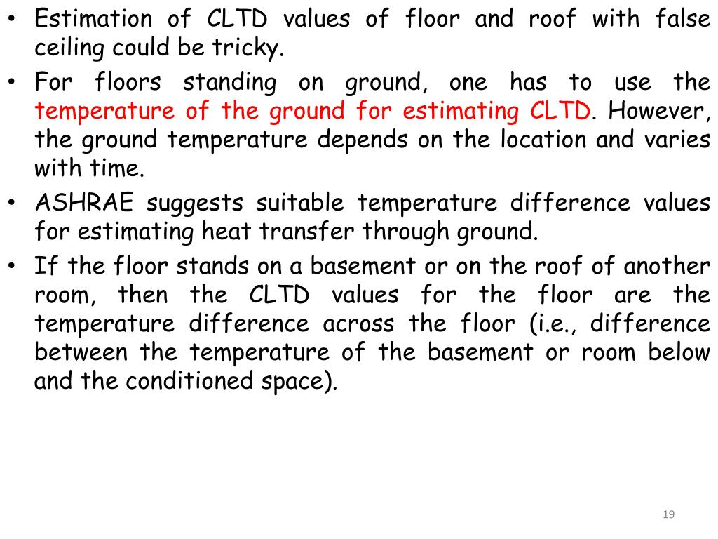 PPT - Cooling And Heating Load Calculations -Estimation Of