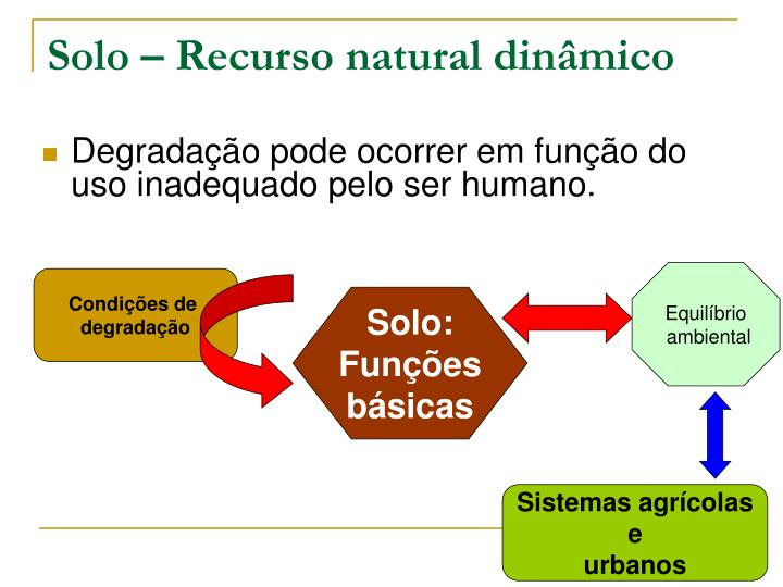 Solo – Recurso natural dinâmico