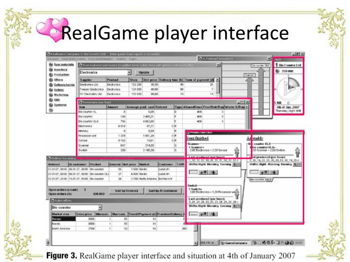 RealGame player interface