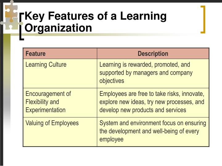a description of the learning organisation The five learning disciplines  from individual to organizational learning  jim taggart  to practice a discipline is to be a lifelong learner you 'never arrive'.