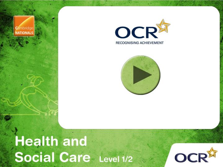 health and social care ocr level 3 Unit 3 p1 health and social care level 3 unit 3 - health, safety and security in health and social care p1 - explain potential hazards and the harm that may arise from each in a health and social care setting.
