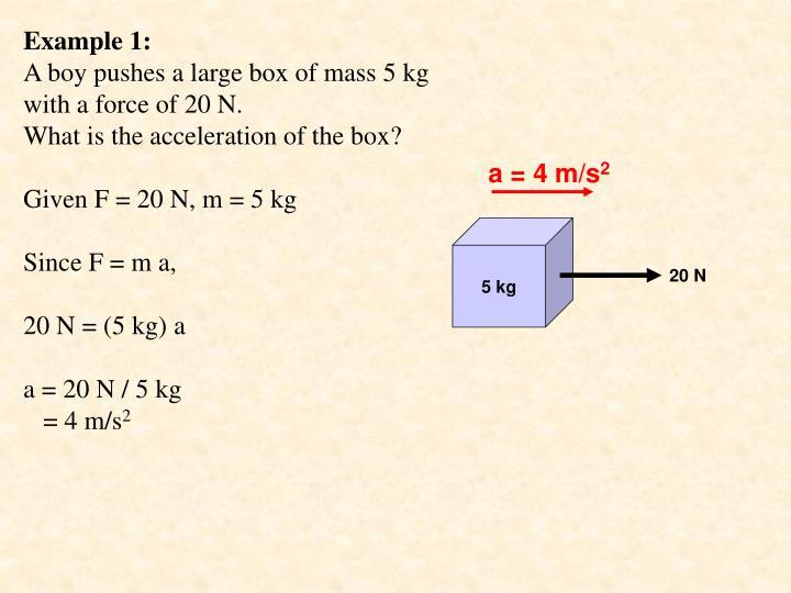 a = 4 m/s