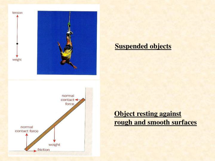 Suspended objects