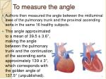 to measure the angle