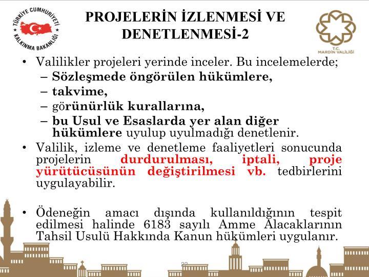 PROJELERİN İZLENMESİ VE DENETLENMESİ-2