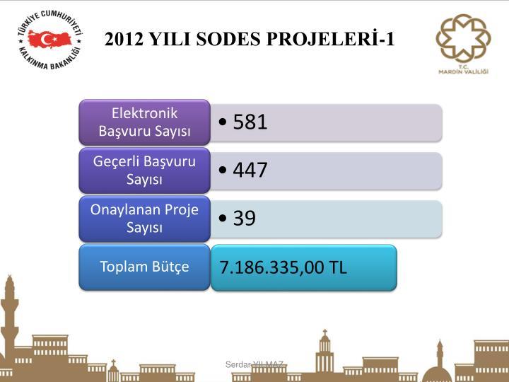 2012 YILI SODES PROJELERİ-1
