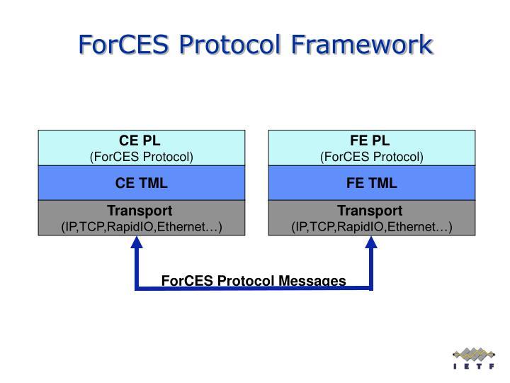 Forces protocol framework