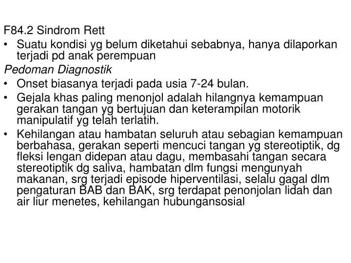 F84.2 Sindrom Rett