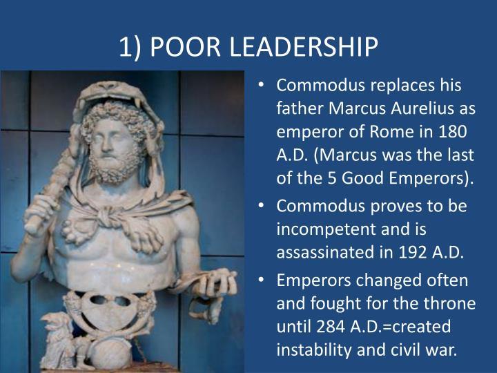 1) POOR LEADERSHIP