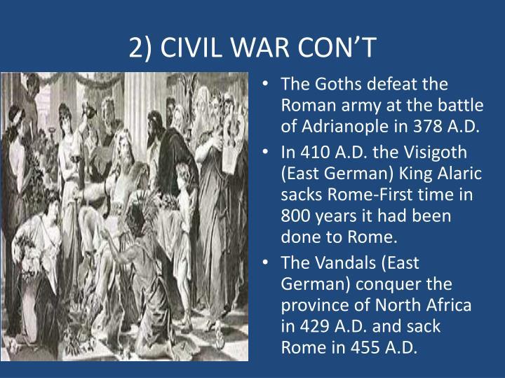 2) CIVIL WAR CON'T
