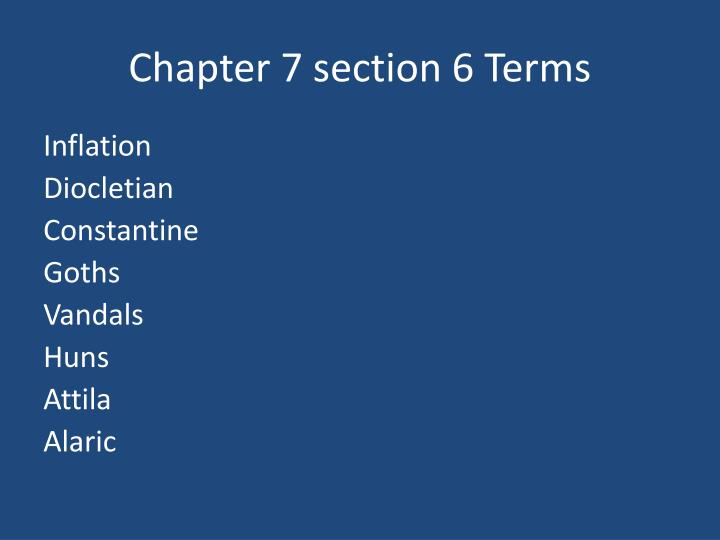 Chapter 7 section 6 terms