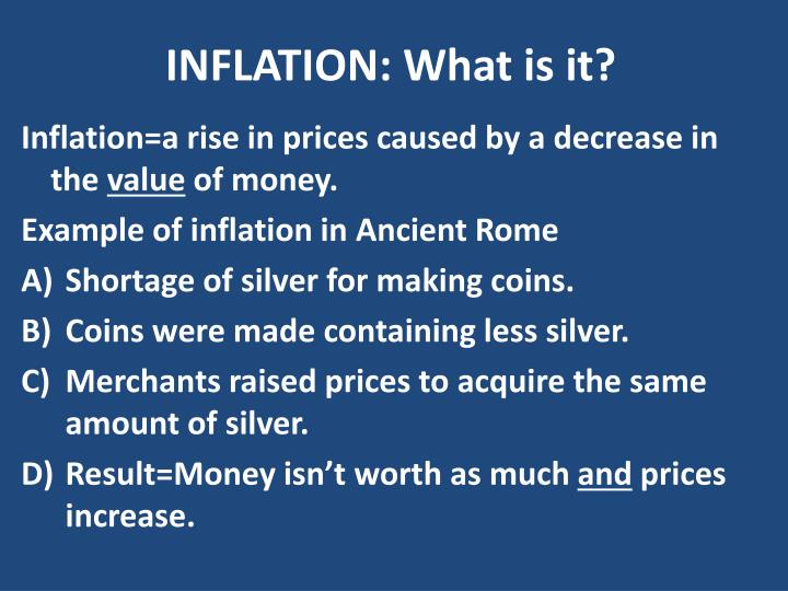 Inflation what is it