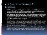 4 1 executive summary proposal