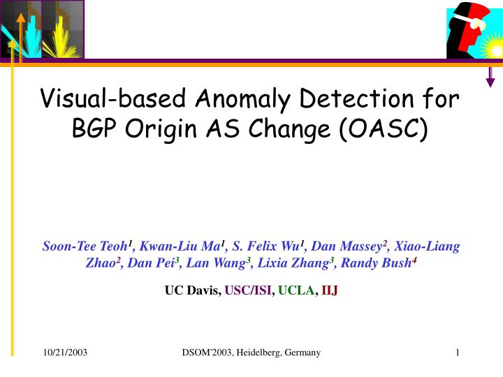 visual based anomaly detection for bgp origin as change oasc n.