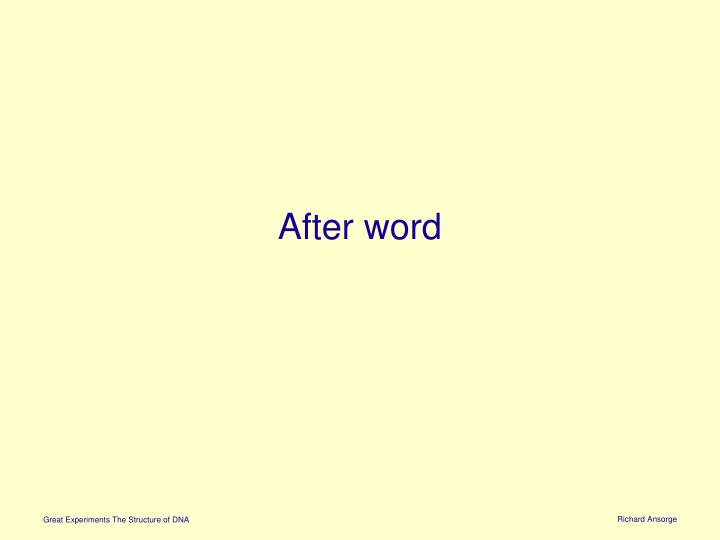 After word