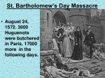 st bartholomew s day massacre