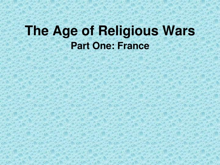 the age of religious wars n.