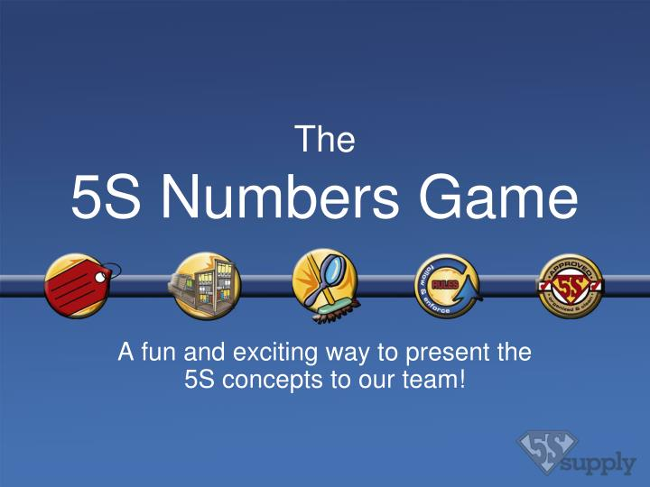 the 5s numbers game n.