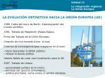 la evoluci n definitiva hacia la uni n europea ue