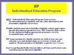 iep individualized education program