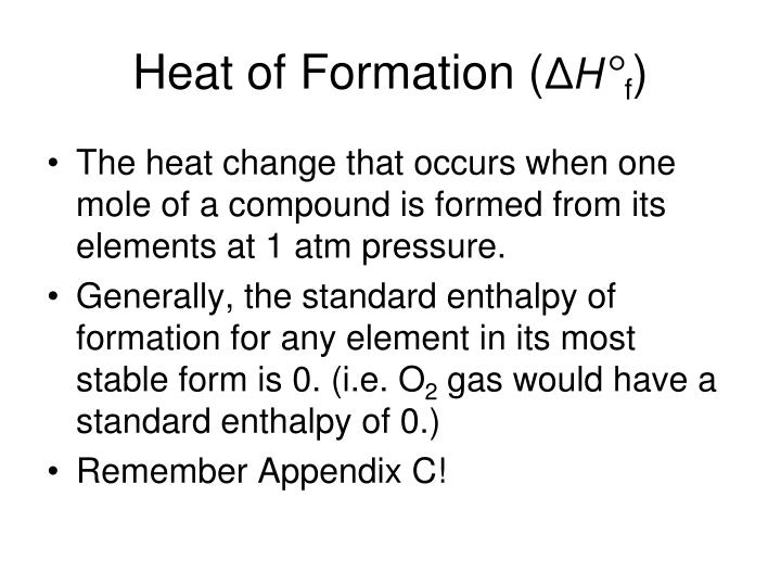 Heat of Formation (
