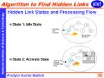 hidden link states and processing flow