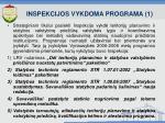 inspekcijos vykdoma programa 1