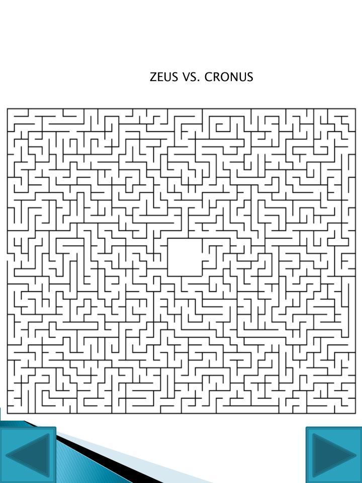 ZEUS VS. CRONUS