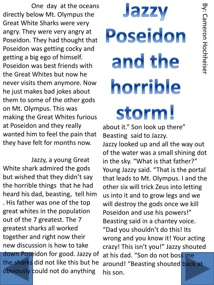 Jazzy Poseidon and the horrible storm!