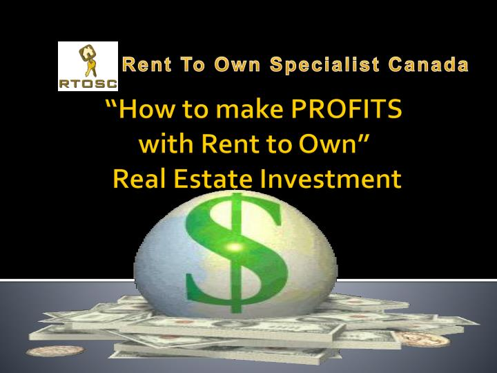 how to make profits with rent to own real estate investment n.