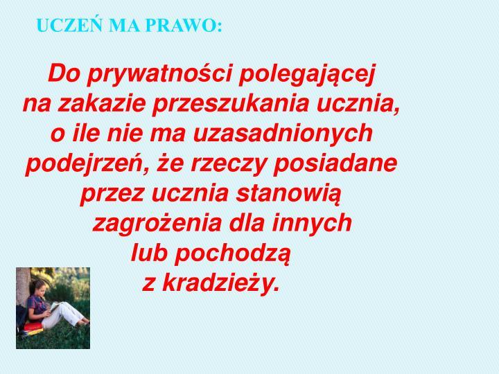 UCZEŃ MA PRAWO: