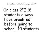 do you have breakfast before going to s chool