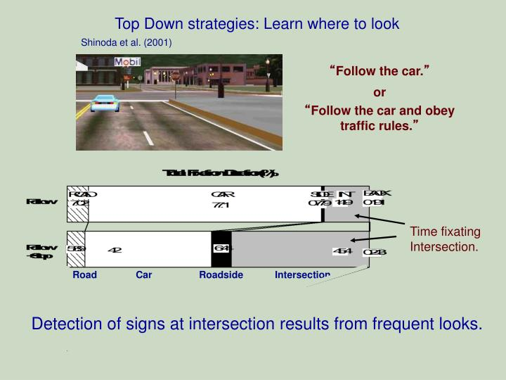 Top Down strategies: Learn where to look